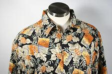 New with tags.  Pierre Cardin tropical hawaiian shirt. Sz M Pineapple palm tree