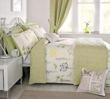 Dreams & Drapes Botanique Spring Floral Duvet Cover Set Green Single