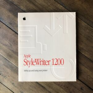 Vintage Apple StyleWriter1200 User Manual Setting Up and Using Your Printer 1995