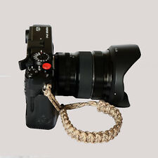 Des Camo Paracord Wrist Strap for DSLR Compact Mirrorless etc Sony Fuji Samsung