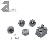 Zinge Industries 9.5mm Off Road Wheel X 4 Sprue + Hub Caps S-WHE02