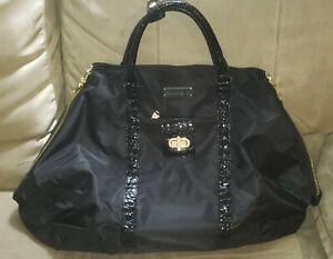 Samantha Brown Very Large Black Weekender Shoulder Bag BRAND NEW w/Tags
