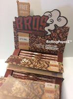 Sealed Full Box BROS BROWN King Size Cigarette Rolling Papers/50 packs/33 leaves