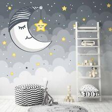 Vlies Fototapete Kinderzimmer Mond Himmel Sterne Galaxy Galaxie Weltall XXL 27