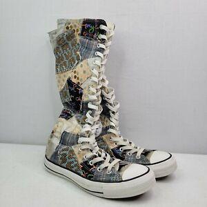 Converse Chuck Taylor Tall Knee High Ragland Patchwork Sneakers Women's US 7
