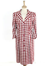 Moschino Cheap And Chic Womens Red Gingham Frock Coat Size 12