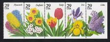 USA 1993 Flowers, MNH booklet pane of 5, sc#2764a