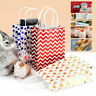 11Pcs Recyclable 3 Style Kraft Paper Gift Bag Shopping Wedding Party Bags Handle