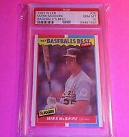 1987 Fleer Baseball's Best Mark McGwire ROOKIE RC #26 PSA 10 GEM MINT Low Pop