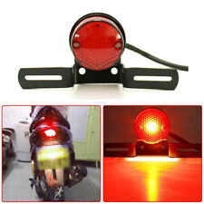 LED Brake Licence Bracket Tail Light For Motorcycle Chopper Bobber Cafe Racer FO
