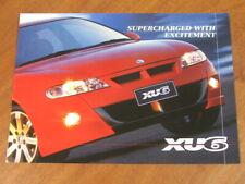 2001 HSV VX  XU6 original Australian 4 page brochure