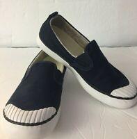 Keen Women Shoe Elsa Slip On Size 8 Navy Blue Canvas Vegan Sneaker Casual