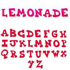 Sizzix Bigz XL Lemonade Capital alphabet die #A11109 Retail $69.99 Cuts fabric!