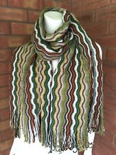 MISSONI MULTI WAVE STRIPE DESIGN KNITTED SCARF WRAP MADE IN ITALY