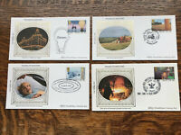 Gb Benham 1986 Fdc's THANKS TO INDUSTRY Set Of 4