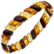 Natürliche Armbänder mit Bernstein echten Edelsteinen für Damen