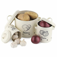 Vorratsbehälter Aufbewahrung Behälter Set für Kartoffeln Zwiebeln Knoblauch