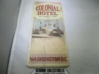"""""""Vintage"""" Colonial Hotel WASHINGTON, DC STREET MAP Early 20th Century Very Rare!"""