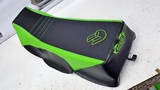 YAMAHA BANSHEE  seat cover SHOCKER LOGO  LIME GREEN & GRIPPER & black