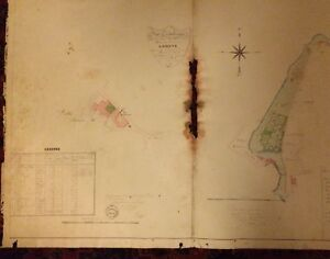 (HÉRAULT)LODÈVE.14 EXCEPTIONNELS PLANS MANUSCRITS SUR LES PROPRIÉTÉS de M. 1836.