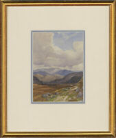 Framed Mid 20th Century Watercolour - Blue Mountain View