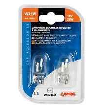 Lampada con zoccolo vetro 12V W21W 21W W3x16d 2PZ D/Blister COD.58097