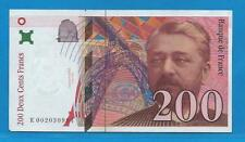 Gertbrolen  200 Francs EIFFEL Type 1995 Billet K002030994