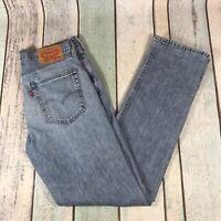 Vintage LEVI'S 514 Regular Straight Fit Men's Blue Jeans W32 L32