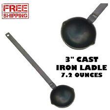Cast Iron Ladle For Precision Lead Solder Casting Black  W/ 3