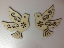 8 COLOMBA IN LEGNO NATURALE BIRD per matrimonio biglietto rendendo Scrapbooking Abbellimenti artigianali