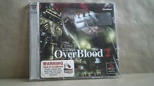 Overblood 2 Playstation PS1 (Case,Manual,2 Discs) Ex Condition Japan Import Rare