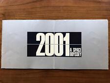 2001 A Space Odyssey, Stanley Kubrick -1968- Scarce, Vtg.Souvenir Softcover Book