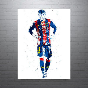 Neymar Photo Football Barcelona Brazil Poster PrintA5 A4 A3 A2 A1