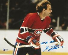Guy Lafleur REAL hand SIGNED Photo #1 BAS COA NHL Hockey Stanley Cup