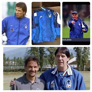 VTG NIKE ITALY ITALIA 1998 SOCCER FOOTBALL WINDBREAKER HOODED JACKET L