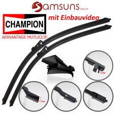 """2x Champion BALAI D Multiclip plat Paire d'essuies-glaces 600mm/24 """""""