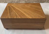 Vintage Thorens Sunburst Music Box 2- Song-Franz Carl Weber Works Great