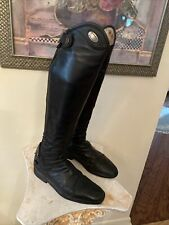 PARLANTI PASSION WOMENS Size 38 DENVER MH+ Tall  BLACK Riding Boots US8