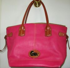 Dooney & Bourke Pink Leather Large Tote Bag - Cute - Vintage Bag