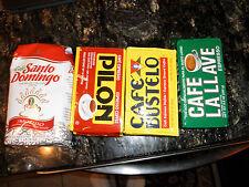 Cafe Pilon, Bustelo, La Llave, and Santo Domingo spanish coffee 2 of each kind!!
