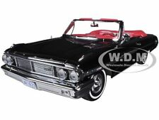 1964 FORD GALAXIE 500 OPEN CONVERTIBLE RAVEN BLACK 1/18 MODEL BY SUNSTAR 1423