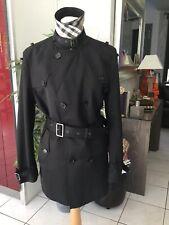 Trench manteau BURBERRY taille XL soit 42 noir  très bon état 1795€