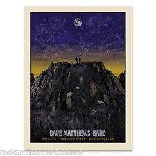 Dave Matthews Fiddlers Green Colorado 8/28/15 Concert Poster Mint  Mega Rare!!
