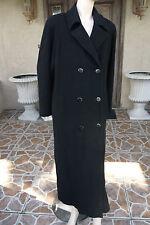 Vtg REGENCY CASHMERE Black Cashmere DB Long Coat/Size 8