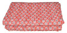 Indian Handmade QueenSize Kantha Quilt Gudari Polka Dots Bedspread Blanket Throw