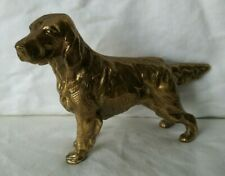 Vintage Brass Irish Setter Dog Figurine Statue Paperweight Decor