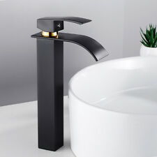 Évier cascade robinet lavabo carré mélangeur salle de bain chrome mono grande