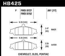 Disc Brake Pad Set Front Hawk Perf HB425F.661