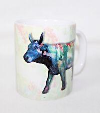 """Cow Parade 2000 """"MOONET"""" Hand Crafted Porcelain Mug 10 oz"""