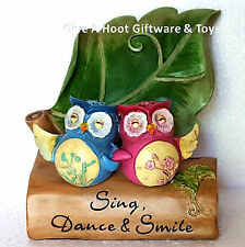 """Owl Inspirational Worded Mobile Phone Business Card Holder """"Gifted Series"""""""